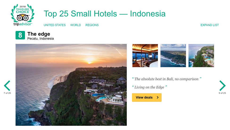 Trip Advisor Article Top 25 Small Hotels in Indonesia