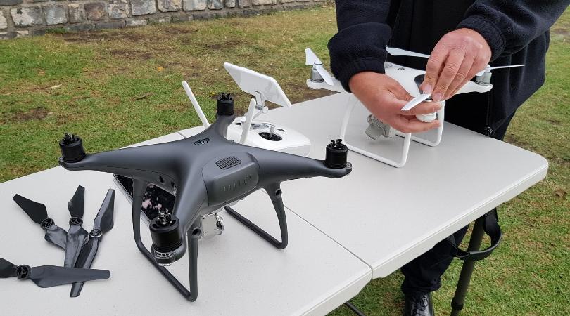 man with dji phantom drone